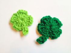 Four-Leaf Clovers Perfect for St. Patrick's Day. These are quick and easy to make! **H hook (any size may be used, based on what size clover you need) **Worsted Weight Yarn (I used Red Heart Super ...