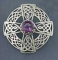 Jeweled Celtic Brooches