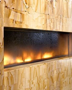 Fireplace Featuring Fire U0026 Water