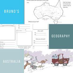 Bruno's Geography Studies: Australia - Blue Bus, Get Reading, Capital City, Beautiful Birds, Geography, Literacy, Study, Tours, Australia