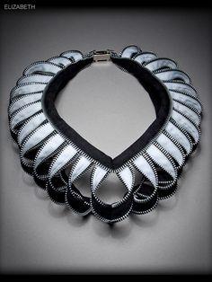 "Kate Cusack | Zipper Jewelry: Necklaces ""Elizabeth"" Mais"