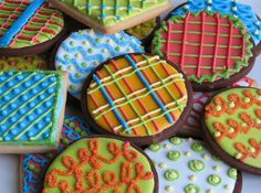 cookies... these are what I think my life must look like... a little crazy, a lot colorful yet put together!