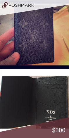 Limited edition Louis Vuitton cardholder Louis Vuitton monogram eclipse pocket organizer. It's brand new and never been used. I was one of the first people to receive I can meet up at Louis Vuitton if need verification that it's authentic but I do have original box with dust cover and all original paper work.   I'm selling for 300 or best offer. I originally paid over 450 dollars for this beautiful piece.  This pocket organizer does have my initials hot stamped in it. But they can be…