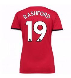 Manchester United Marcus Rashford 19 Dámské Domácí Dres 17-18 Krátký Rukáv