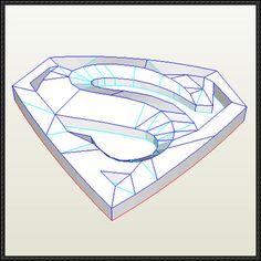 DC Comics - SuperMan Insignia Ver.2 Free Papercraft Download - http://www.papercraftsquare.com/dc-comics-superman-insignia-ver-2-free-papercraft-download.html