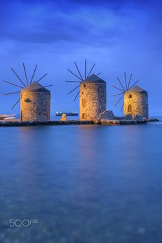 Windmills of Chios, Greece