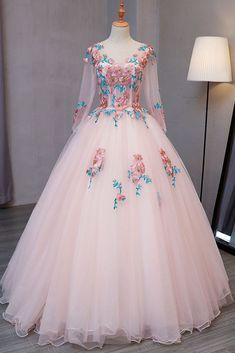 Blue tulle V neck long customize prom dress, long lace evening dress - Banquet Dress Ideas - Kleider Quince Dresses, Ball Dresses, Ball Gowns, Prom Dresses, Long Dresses, Sexy Dresses, Formal Dresses, Dress Prom, Wedding Dresses
