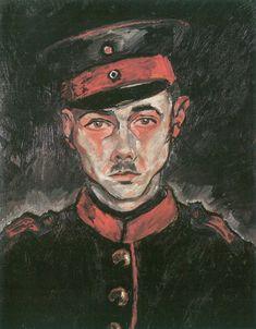 Self-Portrait as Soldier (1917) - Walter Gramatté (German, 1897-1929)