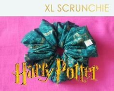 Harry Potter LARGE HAIR SCRUNCHIE by Dreamport Designs Handmade by DREAMPORT DESIGNS, these XXL scrunchies are the perfect modern twist to our inner 80s childs favorite hair accessories --- THE SCRUNCHIE! * 100% HARRY POTTER Cotton Fabric * Measures 6 inches across * Elastic can wrap twice around *