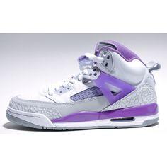 premium selection 7bbe2 293b7 Jordan Spizike GS Grey Purple ❤ liked on Polyvore Jordan Spizike, Newest  Jordans, Wedding