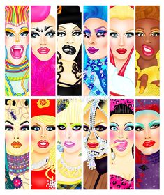 A collection of my Drag Race art. • Buy this artwork on apparel, stickers, phone cases, and more.