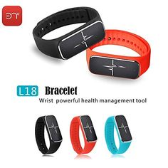 iTontek 37 Degree Bluetooth Smart Bracelet Wristband Sync Fitness TrackerHeart RateBlood PressureEmotional StatusFatigue Level for Samsung HTC Android Smartphone and IOS Iphone -- More info could be found at the image url.