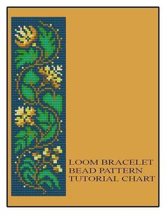 Bead+Loom+Vintage+Floral+Border+1+Bracelet+by+MyTreasureIsland