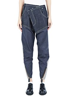 See women's pants Hannah Jinkins Cross Fly Wet Gloss Jeans in blue. Shop at LN-CC. Denim Fashion, Womens Fashion, Mode Jeans, Denim Ideas, All Jeans, Fashion Details, Fashion Design, Pants For Women, Women Wear