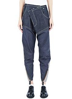 Hannah Jinkins Cross Fly Wet Gloss Jeans