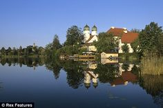 Google Image Result for http://www.infiniteunknown.net/wp-content/uploads/2009/06/chiemsee.jpg.  Lake Chimsee in Germany is a beautiful place to visit and the island holds wonderful treasures to be seen.