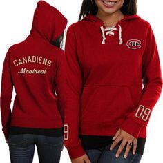 Old Time Hockey Montreal Canadiens Ladies Queensboro Lace-Up Pullover Hoodie Sweatshirt – Red Hockey Goalie, Hockey Mom, Hockey Teams, Ice Hockey, Montreal Canadiens, Pretty Clothes, Pretty Outfits, Women's Clothes, Clothes For Women