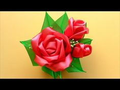 How to make fabric roses.Tutorial. - YouTube