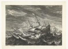 Schepen op zee met hoge golven, Schelte Adamsz. Bolswert, Gillis Hendricx, 1596 - 1659 Painting, Travel, Art, Viajes, Painting Art, Paintings, Destinations, Traveling, Trips
