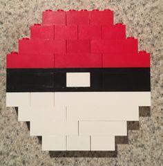 Pokemon Go Ball made from Lego Bricks