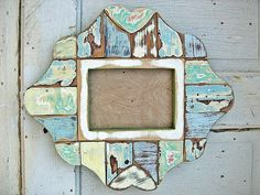 scrap wood mirror... Dishfunctional Designs: Home Decor & Art Made From Old Salvaged Reclaimed Wood
