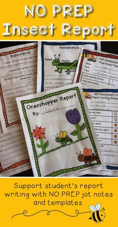 Insect reports that students can be proud of! insect writing activities, insect writing, insect report, insect report template, insect report first grade, insect report second grade, insect research project, insect research report, insect research first g Grade 2 Science, Science Lessons, Science For Kids, Inquiry Based Learning, Student Learning, Teaching Writing, Writing Activities, Report Writing, Informational Writing