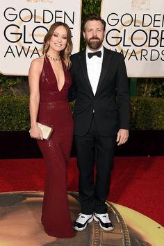 Pin for Later: Ces Couples de Célébrités Étaient Superbes Lors des Golden Globe Awards Olivia Wilde et Jason Sudeikis