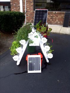 Solar powered U-Gro 30 hydroponic garden system http://ugrogarden.com.