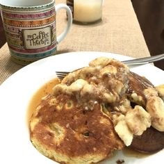 Feast day pancakes are SO satisfying! If you'd be interested in a basic program that includes #glutenfree recipes like this one leave me a comment by thefitfiddler