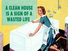 A Clean House is a Sign of a Wasted Life? :)
