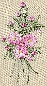 Gerone Daisy Bouquet Brazilian Embroidery pattern