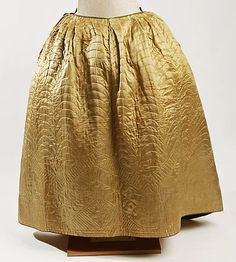 Petticoat  Date: 18th century Culture: American or European Medium: [no medium available] Dimensions: [no dimensions available] Credit Line: Gift of Mr. J. C. Hawthorne, 1946 Accession Number: C.I.46.82.3