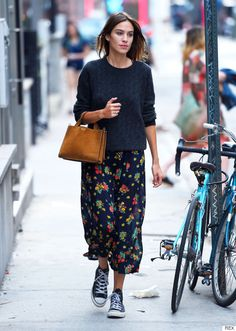 Alexa Chung nailing it as per. Autumn/Winter inspiration