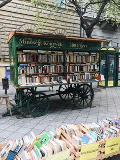 A street library in Budapest