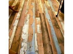 pallet flooring What do you think of this floor Reclaimed Wood Products - From May 2012 - Products - Greensource Magazine Pallet Floors, Reclaimed Wood Floors, Wooden Flooring, Barn Wood, Hardwood Floors, Wood Planks, Salvaged Wood, Wood Wood, Diy Wood