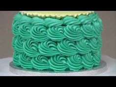 Torta con petali effetto degrade' , How-to make an Ombre Ruffle Cake - YouTube