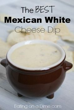 The Best Mexican White Cheese Dip! I promise you will love this queso blanco! [ MexicanConnexionforTile.com ] #food #Talavera #Mexican