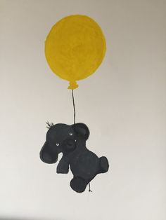 Elephant with baloon wall painting