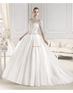 Elegant Tulle Glamour Maniche Lunghe Abiti Da Sposa Baljurk Vestito Da Sposa