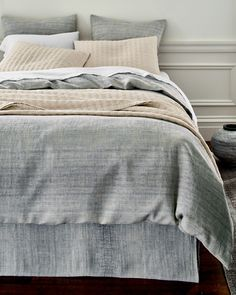 Eileen Fisher Ombré Cotton & Linen Duvet Cover and Sham - Garnet Hill