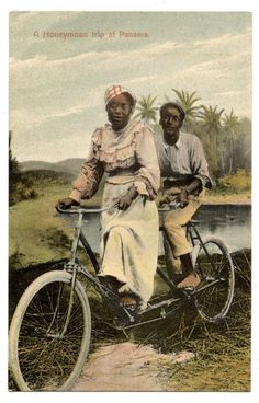 Panama Amerique Du Nord A Honeymoon Tandem Velo Byciclette Bicycle   eBay