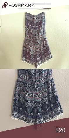 473fef6204c3 Tube top Romper with Tassels This Romper is adorable! Size Small. Other