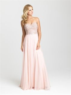 Shop strapless long prom dresses at PromGirl. Sweetheart prom dresses, formal dresses for prom, and long strapless prom dresses with beaded sweetheart bodices and floor-length chiffon skirts. Bridal Dresses Online, Prom Dresses 2016, A Line Prom Dresses, Ball Dresses, Strapless Dress Formal, Wedding Dresses, Party Dresses, Lace Wedding, Designer Formal Dresses