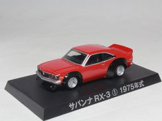 AOSHIMA GRACHAN BEST1 MAZDA SAVANNA RX-3 1 RED 1/64 GRAND CHAMPION #Aoshima #Mazda