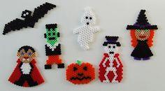 Halloween ornaments hama perler beads by Les Mercredis de Julie