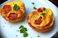 Rychlé a chuťově výborné low carb muffiny z čerstvého sýra ricotta a Schwarzwaldské šunky. Low carb & keto friendly.