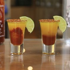Are you ready to take your bartending skills to the next level? Amaze your friends with these fun and easy shot and shooter recipes at the next get together! Learn how to make everything from rainbow shooters to strawberry birthday cake shots. Mango Cocktail, Cocktail Drinks, Cocktail Recipes, Drink Recipes, Cocktails, Blue Drinks, Mixed Drinks, Mango Shot Recipe, Refreshing Drinks