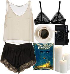 Lazy Day par valentinadp utilisant hauts en soie Lingerie, Sleepwear & Loungewear - http://amzn.to/2ij6tqw
