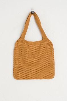 Square Knit Bag, Brick