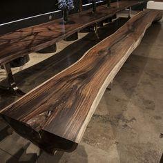 24 ft Rosewood Bench24 FT ROSEWOOD BENCH Hudson Furniture, Dining Furniture, Diy Furniture, Furniture Design, Live Edge Table, Live Edge Wood, Wood Slab, Walnut Wood, Oak Bench